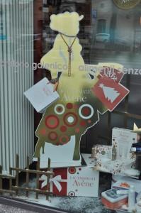 la vetrina di Natale monobrand
