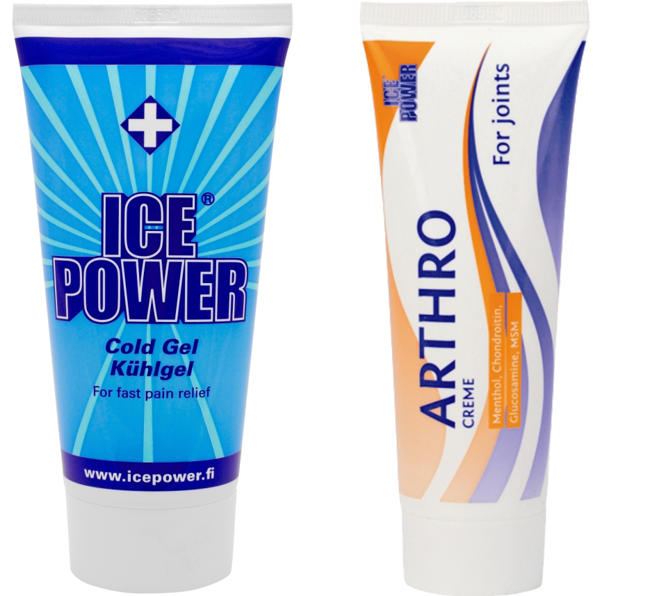 Gel freddo Ice Power e Arthro Creme